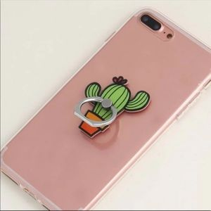 NWT Succulent Cactus Ring Stand Phone Holder